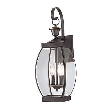 Quoizel OAS8408Z Incandescent Wall Lantern, Medici Bronze