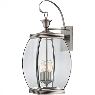 Quoizel OAS8409P Incandescent Wall Lantern, Pewter