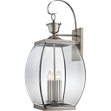 Quoizel OAS8413P Incandescent Wall Lantern, Pewter