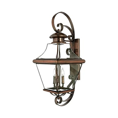 Quoizel CAR8414AC Incandescent Wall Lantern, Aged Copper