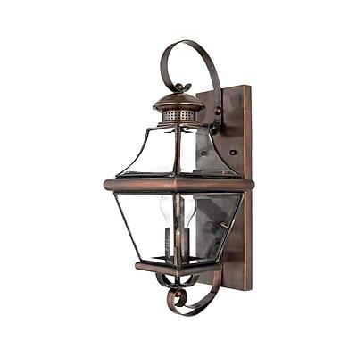 Quoizel CAR8728AC Incandescent Wall Lantern, Aged Copper