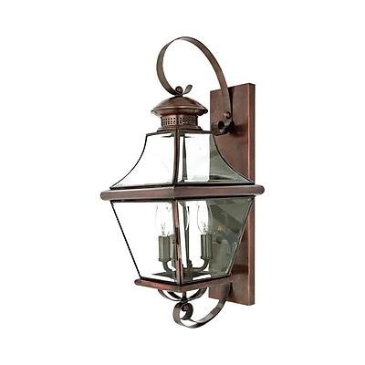 Quoizel CAR8729AC Incandescent Wall Lantern, Aged Copper