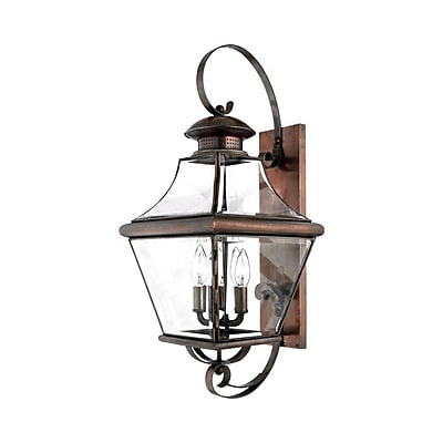 Quoizel CAR8730AC Incandescent Wall Lantern, Aged Copper