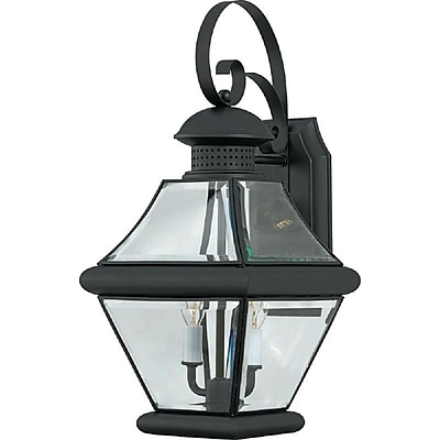 Quoizel RJ8409K Incandescent Wall Lantern, Mystic Black