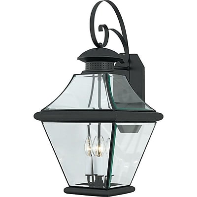 Quoizel RJ8414K Incandescent Wall Lantern, Mystic Black