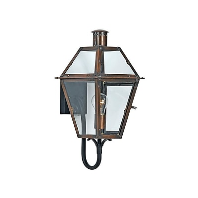 Quoizel RO8410AC Aged Copper Wall Lantern, Incandescent