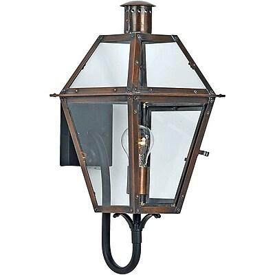 Quoizel RO8410ACFL Aged Copper Wall Lantern, CFL