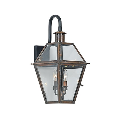 Quoizel RO8411AC Incandescent Wall Lantern, Aged Copper