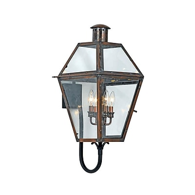 Quoizel RO8414AC incandescent Wall Lantern, Aged Copper