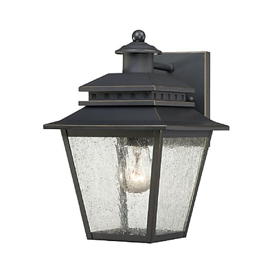 Quoizel CAN8407WB Weathered Bronze Wall Lantern, Incandescent