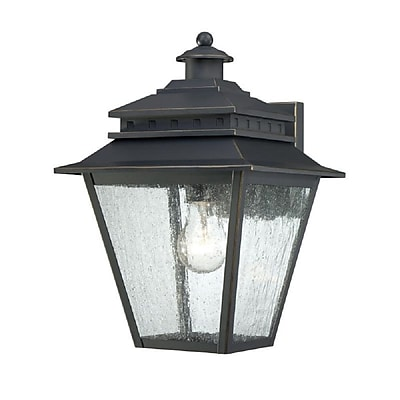 Quoizel CAN8409WB Weathered Bronze Wall Lantern, Incandescent