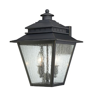 Quoizel CAN8411WB Incandescent Wall Lantern, Weathered Bronze