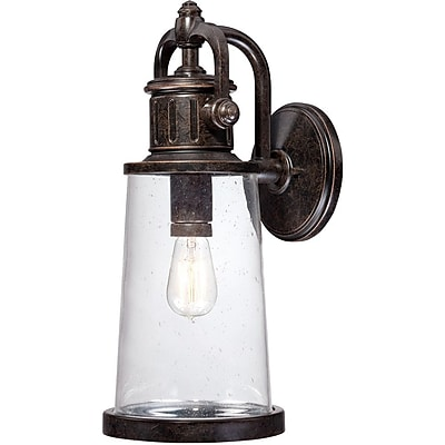 Quoizel SDN8408IBFL Imperial Bronze Wall Lantern, CFL