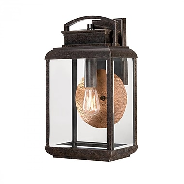 Quoizel BRN8410IB Imperial Bronze Wall Lantern, Incandescent
