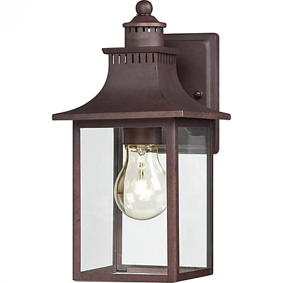 Quoizel CCR8406CU Copper Bronze Wall Lantern, Incandescent