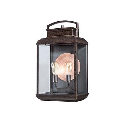 Quoizel BRN8412IB Imperial Bronze Wall Lantern, Incandescent