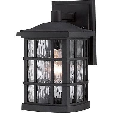 Quoizel SNN8406KFL Mystic Black Wall Lantern, CFL