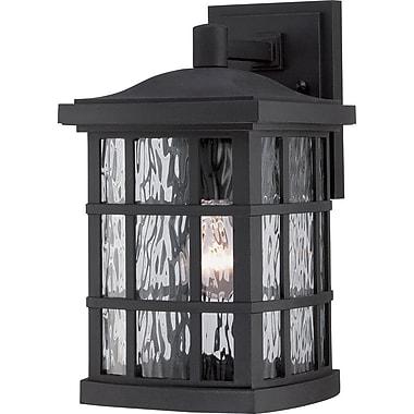 Quoizel SNN8408KFL Mystic Black Wall Lantern, CFL