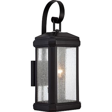Quoizel TML8408K Incandescent Wall Lantern, Mystic Black