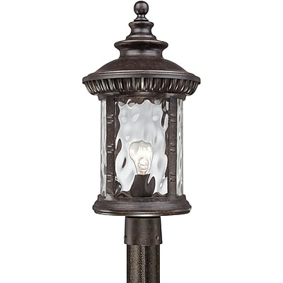 Quoizel CHI9011IBFL CFL Post Lantern, Imperial Bronze