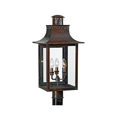 Quoizel CM9012AC Incandescent Post Lantern, Aged Copper