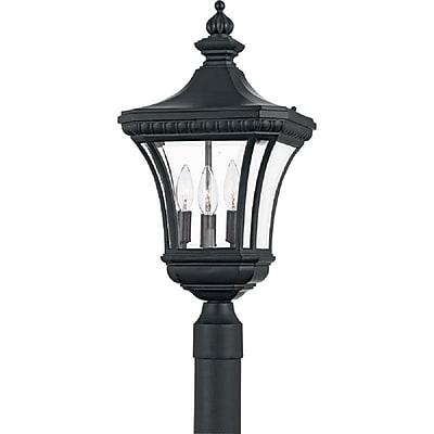 Quoizel DE9011K Incandescent Post Lantern, Mystic Black