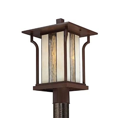 Quoizel LNG9011CHB Chocolate Bronze Post Lantern, Incandescent