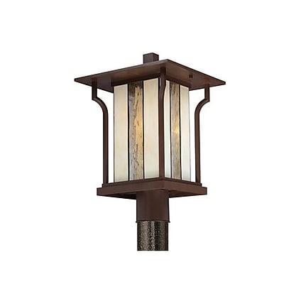 Quoizel LNG9011CHBFL Chocolate Bronze Post Lantern, CFL