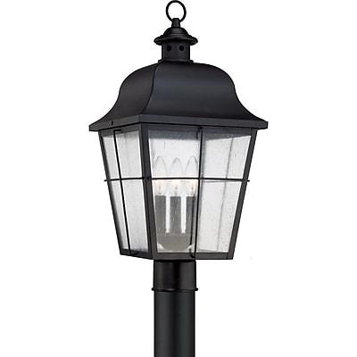 Quoizel MHE9010K Incandescent Post Lantern, Mystic Black