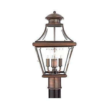 Quoizel CAR9011AC Incandescent Post Lantern, Aged Copper