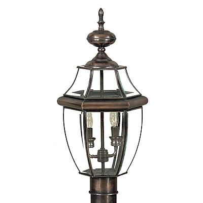 Quoizel NY9042AC Incandescent Post Lantern, Aged Copper