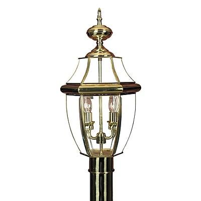 Quoizel NY9042B Incandescent Post Lantern, Polished Brass