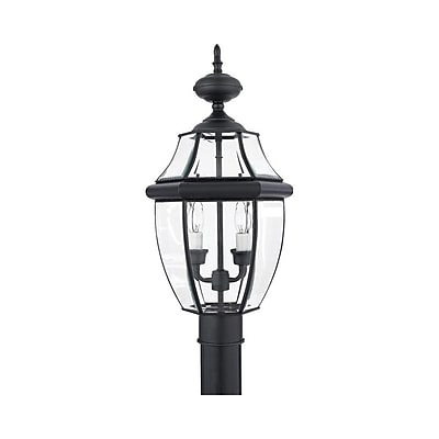Quoizel NY9042K Incandescent Post Lantern, Mystic Black