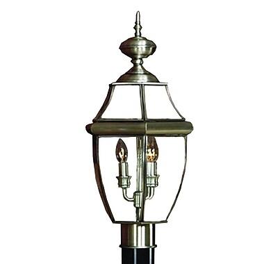Quoizel NY9042P Incandescent Post Lantern, Pewter