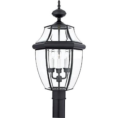 Quoizel NY9043K Incandescent Post Lantern, Mystic Black