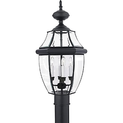 Quoizel NY9045K Incandescent Post Lantern, Mystic Black