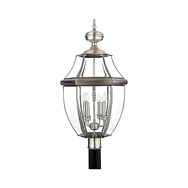 Quoizel NY9045P Incandescent Post Lantern, Pewter