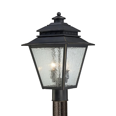 Quoizel CAN9011WB Incandescent Post Lantern, Weathered Bronze