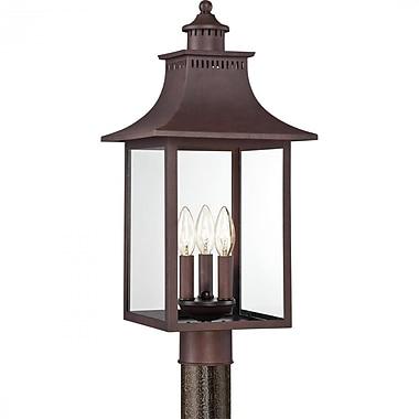 Quoizel CCR9010CU Incandescent Post Lantern, Copper Bronze