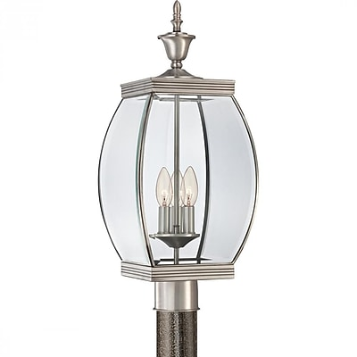 Quoizel OAS9009P Incandescent Post Lantern, Pewter