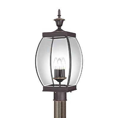 Quoizel OAS9009Z Incandescent Post Lantern, Medici Bronze