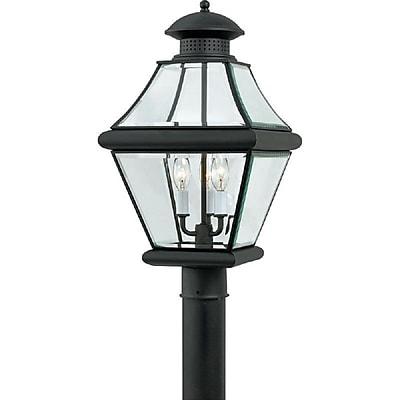Quoizel RJ9011K Incandescent Post Lantern, Mystic Black