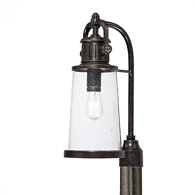 Quoizel SDN9008IB Imperial Bronze Post Lantern, Incandescent