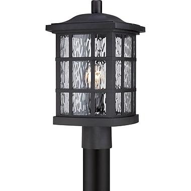 Quoizel SNN9009KFL Mystic Black Post Lantern, CFL