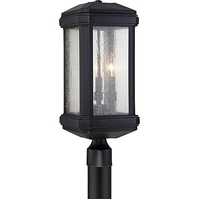 Quoizel TML9008K Incandescent Post Lantern, Mystic Black