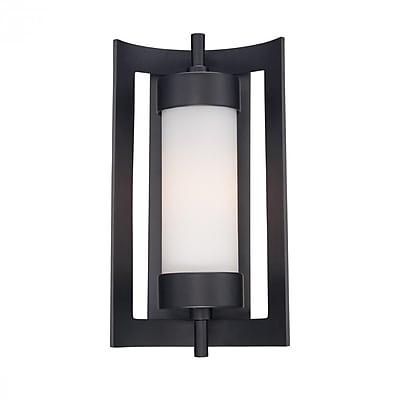 Quoizel MLN8309K Incandescent Wall Lantern, Mystic Black