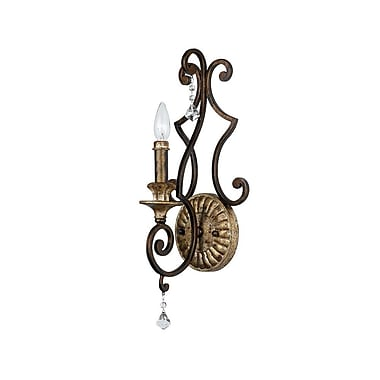 Quoizel MQ8701HL Incandescent Wall Sconce, Heirloom