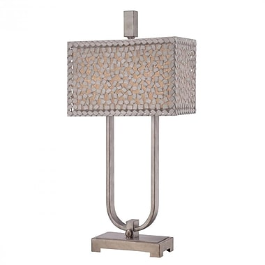 Quoizel CKCF6330OS CFL Table Lamp, Old Silver