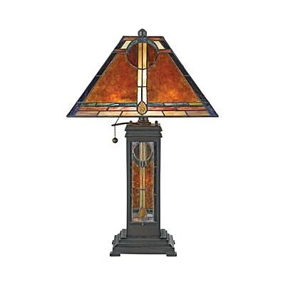 Quoizel NX615TVA Incandescent Table Lamp, Valiant Bronze
