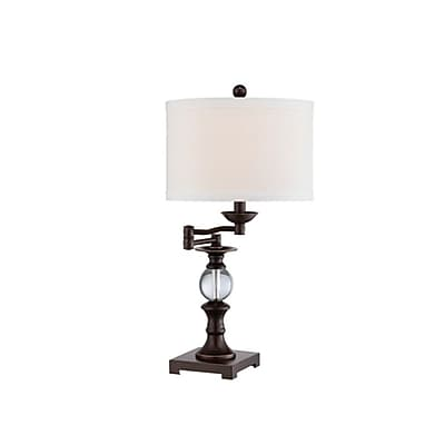 Quoizel Q1632TBN CFL Table Lamp, Brushed Nickel